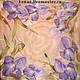 Scarf batik silk with irises 'Vanilla sky'. Shawls1. Kenaz silk (KENAZ). Online shopping on My Livemaster.  Фото №2