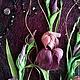 """Картины цветов ручной работы. Заказать Картина """"Ирисы"""" из листьев кукурузы. Фантазерки (fantazerki). Ярмарка Мастеров. Картина для интерьера, ирисы"""