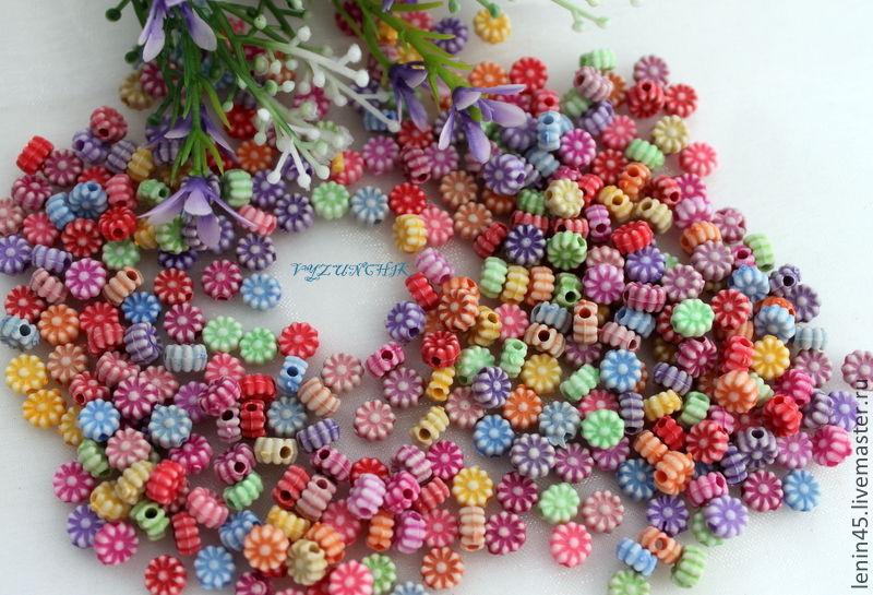 Бусины маленькие цветочки, Бусины, Стерлитамак, Фото №1