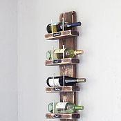 Для дома и интерьера ручной работы. Ярмарка Мастеров - ручная работа винный стеллаж. Handmade.