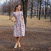 Одежда ручной работы. Ярмарка Мастеров - ручная работа Платье на заказ из разных тканей. Handmade.