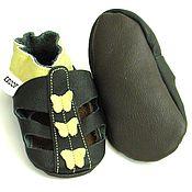 Работы для детей, handmade. Livemaster - original item Baby Shoes, Baby Girl Sandals, Baby Summer Shoes with Butterflies. Handmade.