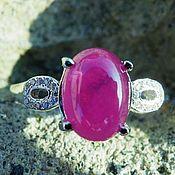 Украшения handmade. Livemaster - original item Silver ring with a bright crimson Ruby. Handmade.