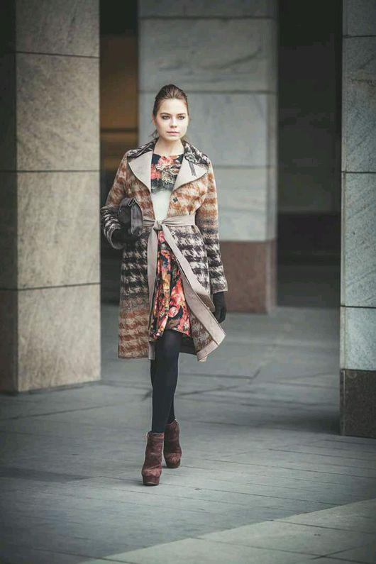 Верхняя одежда ручной работы. Ярмарка Мастеров - ручная работа. Купить Пальто из шерсти и замши натуральной. Handmade. Индивидуальный пошив