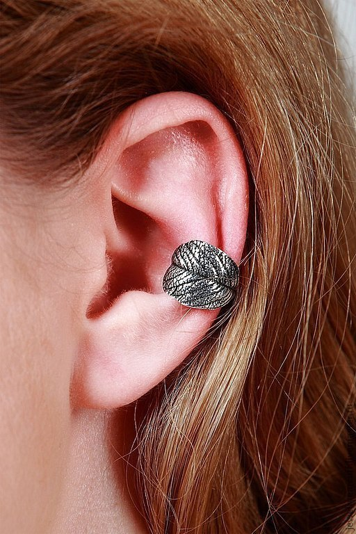 Ювелирный кафф из серебра 925 пробы или Ear cuff от Stepan Vasiliev Jewelry.  Ярмарка мастеров-ручная работа. Купить кафф серебро 925. Кафф серьги ручной работы и подгибается на любое ушко.