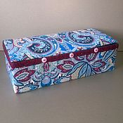 Для дома и интерьера handmade. Livemaster - original item Box: Box for knitting Grapes. Handmade.