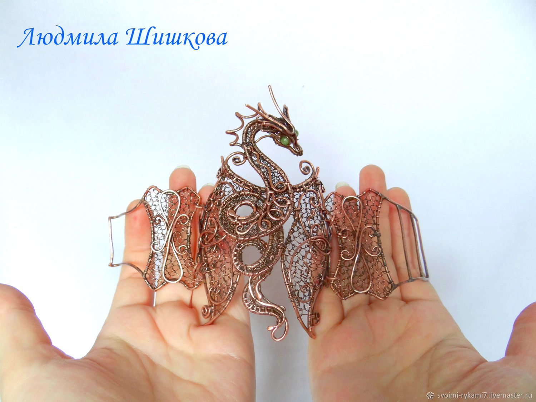 Bracelet Copper dragon', Bead bracelet, Mezhdurechensk,  Фото №1