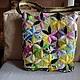"""Женские сумки ручной работы. Ярмарка Мастеров - ручная работа. Купить Лоскутная  сумка  """" Цветы, цветы..."""". Handmade."""