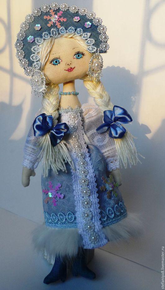 Куклы тыквоголовки ручной работы. Ярмарка Мастеров - ручная работа. Купить Текстильная кукла ручной работы.Снегурочка.Купить текстильную куклу.. Handmade.