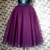 Одежда ручной работы. Ярмарка Мастеров - ручная работа Юбка - пачка темно-фиолетовая. Handmade.