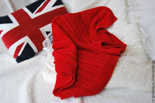 """Пледы и одеяла ручной работы. Ярмарка Мастеров - ручная работа. Купить Плед для коляски """"Красный мак"""". Handmade. Ярко-красный"""