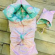 Конверты на выписку ручной работы. Ярмарка Мастеров - ручная работа Конверт одеяло на выписку. Handmade.