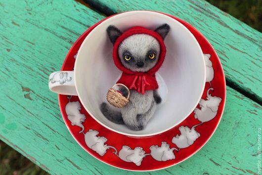 Мишки Тедди ручной работы. Ярмарка Мастеров - ручная работа. Купить Красная Шапочка. Handmade. Серый, тамамян наталья, шерсть