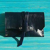 Сумки и аксессуары handmade. Livemaster - original item Women`s handbag leather clutch bag Indigoblue.. Handmade.