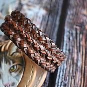 Украшения handmade. Livemaster - original item braided leather bracelet. Handmade.