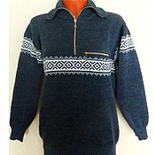 Одежда ручной работы. Ярмарка Мастеров - ручная работа Вязаный свитер  Джинс. Handmade.