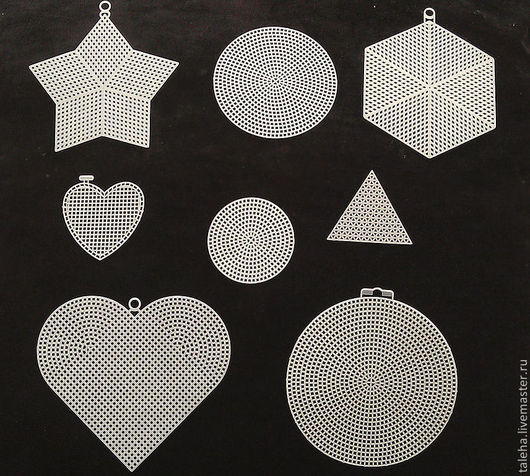 Вышивка ручной работы. Ярмарка Мастеров - ручная работа. Купить Пластиковая канва прямоугольная и различные формы.. Handmade. Белый, полупрозрачная