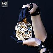 handmade. Livemaster - original item Ceramic skull box
