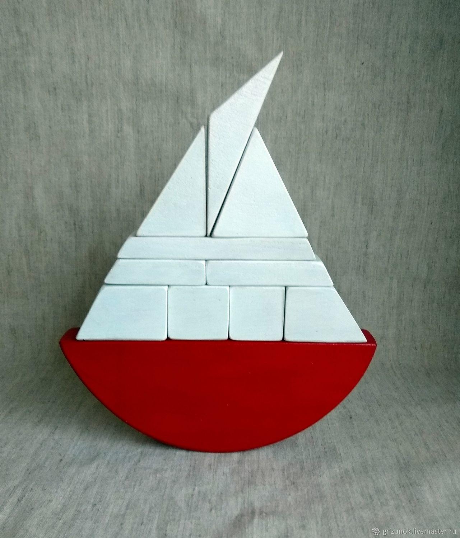 The balancer wooden Sailboat, Puzzle, Zheleznodorozhny,  Фото №1