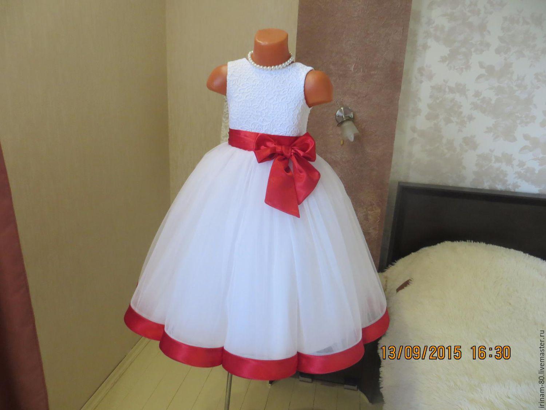 Нарядное платье для девочки сшить с пышной юбкой 35