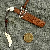 """Фен-шуй и эзотерика ручной работы. Ярмарка Мастеров - ручная работа нож кулон """"Волчий клык"""". Handmade."""