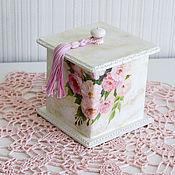 """Для дома и интерьера ручной работы. Ярмарка Мастеров - ручная работа короб """"азалия розовая"""" с крышкой. Handmade."""