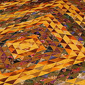 Для дома и интерьера ручной работы. Ярмарка Мастеров - ручная работа Покрывало  Золото. Handmade.