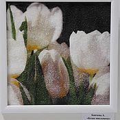 Картины и панно ручной работы. Ярмарка Мастеров - ручная работа Белые тюльпаны. Handmade.