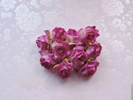 Открытки и скрапбукинг ручной работы. Ярмарка Мастеров - ручная работа. Купить Розы 3 см 5 штук. Handmade. Комбинированный
