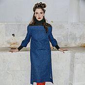 d548155c06f Джинсовое платье в горох с открытыми предплечьями – купить в ...