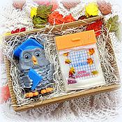 Косметика ручной работы. Ярмарка Мастеров - ручная работа Набор мыла на 1 сентября с календарем в подарок учителю. Handmade.