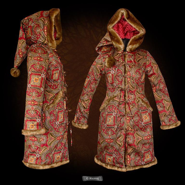 Пальто зимнее с капюшоном женское сшить