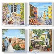 Картины и панно handmade. Livemaster - original item a set of paintings in the style of provence. Handmade.
