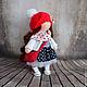 Коллекционные куклы ручной работы. Иришка, 24см - интерьерная кукла. Светлана Теницкая. Ярмарка Мастеров. Авторская кукла, Кукольный трикотаж