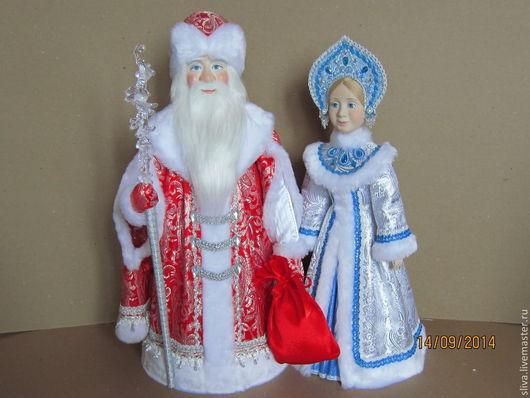 Дед Мороз в подарок и Снегурочка2. Авторские интерьерные куклы украсят Ваш Дом в новогодние праздники и доставят детям много радости и удовольствия.