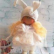 Куклы и игрушки ручной работы. Ярмарка Мастеров - ручная работа Кукла текстильная Зая. Handmade.