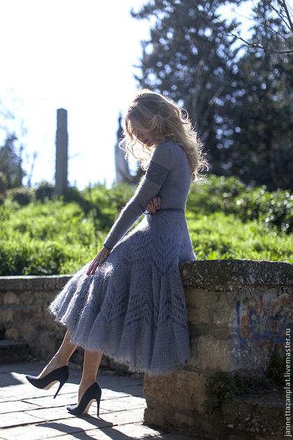 """Платья ручной работы. платье """"Сиреневый туман"""". Jannetta knits  Luxury handmade. Ярмарка Мастеров. Авторская работа"""
