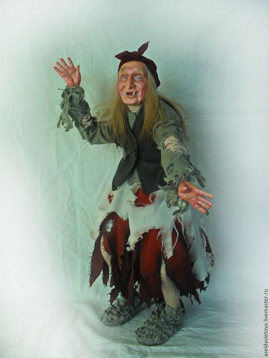 Сказочные персонажи ручной работы. Ярмарка Мастеров - ручная работа. Купить Баба яга из сказки Морозко. Handmade. Серебряный