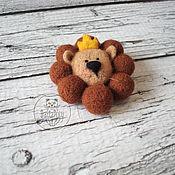 Украшения handmade. Livemaster - original item Brooch lion — king of beasts. Handmade.