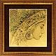 Стихия Вода - картина из сусального золота 960 пробы, Картины, Москва,  Фото №1