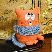 Куклы и игрушки ручной работы. Ярмарка Мастеров - ручная работа Кот Пухлик. Handmade.