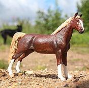 Куклы и игрушки handmade. Livemaster - original item Toy stallion Morgan (repainted), 12 cm. Handmade.