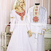 Свадебный салон ручной работы. Ярмарка Мастеров - ручная работа Платье в золотых тонах. Handmade.