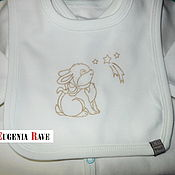 """Работы для детей, ручной работы. Ярмарка Мастеров - ручная работа Комплект для новорожденных """"Молочные зайчики"""", 6 предметов. Handmade."""