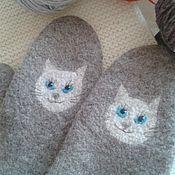 """Аксессуары ручной работы. Ярмарка Мастеров - ручная работа Варежки """"Кошки,кошки,кошки...."""" валяные. Handmade."""
