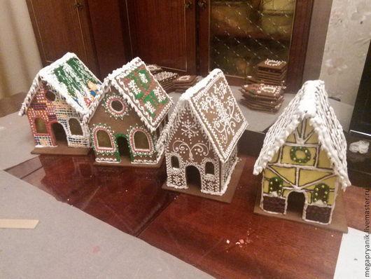 Кулинарные сувениры ручной работы. Ярмарка Мастеров - ручная работа. Купить Пряничные домики новогодние. Handmade. Готовый подарок