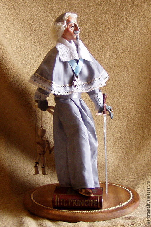 Портретные куклы ручной работы. Ярмарка Мастеров - ручная работа. Купить Серый кардинал. Закулисный кукловод. Авторская кукла.. Handmade.