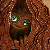 Сумки и аксессуары ручной работы. Ярмарка Мастеров - ручная работа Сумка-рюкзак, трансформер с зелеными глазами. Handmade.