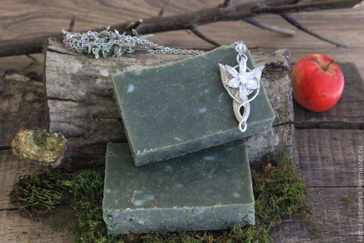 """Мыло ручной работы. Ярмарка Мастеров - ручная работа. Купить Мыло для мужчин """"Арагорн"""". Handmade. Тёмно-зелёный, мыло в подарок"""