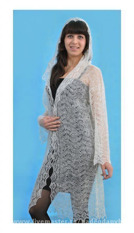 Outer Clothing handmade. Livemaster - handmade. Buy 8-coat handmade duvet, outerwear.White, original, outerwear, coat knitted